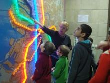8 февраля дети-инвалиды посетили музей Санкт-Петербургского Метрополитена